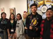 After a day of breakout sessions on all things journalism, students went out for a night at the Dallas Museum of Art. Photo by Mark Middlebrook