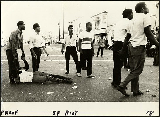 protesters in the 1966 bayview hunters point riots aak 1648 Bayview Hunters Point