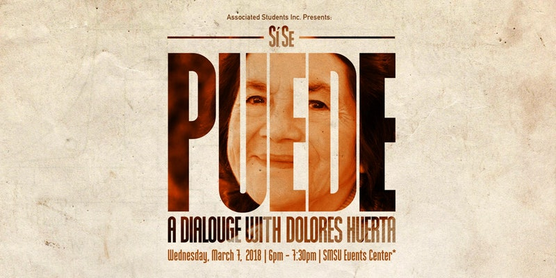 https cdn evbuc com images 40967998 212179948091 1 original Activist Dolores Huerta scheduled to speak at CSUSB