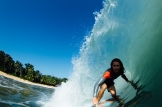 Declan Bradley, from Australia, surfing at Bluff Beach in Bocas Del Toro, Panama. (Photo courtesy of James Fazio)