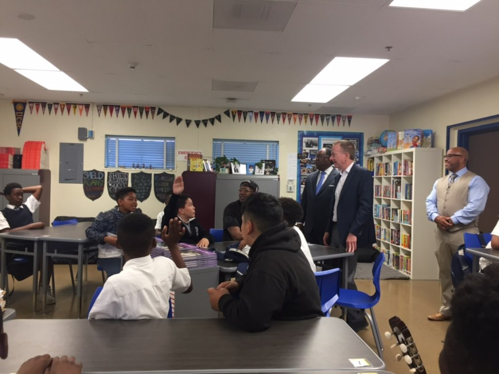 A day alongside Superintendent Beutner