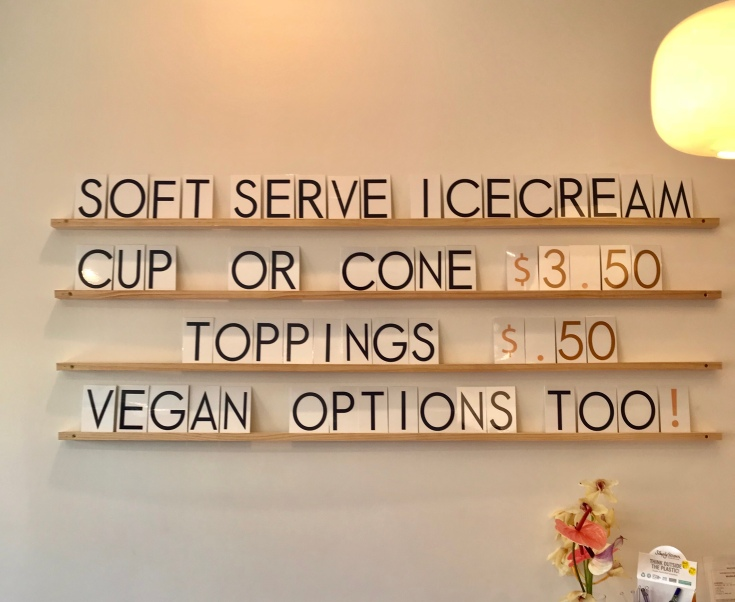 new signs Now serving soft serve ice cream in Long Beach