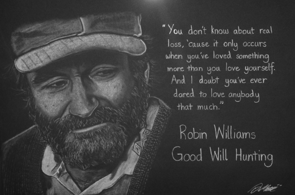 robin williams   good will hunting by artists eye view d8bb3dy My thoughts on Good Will Hunting