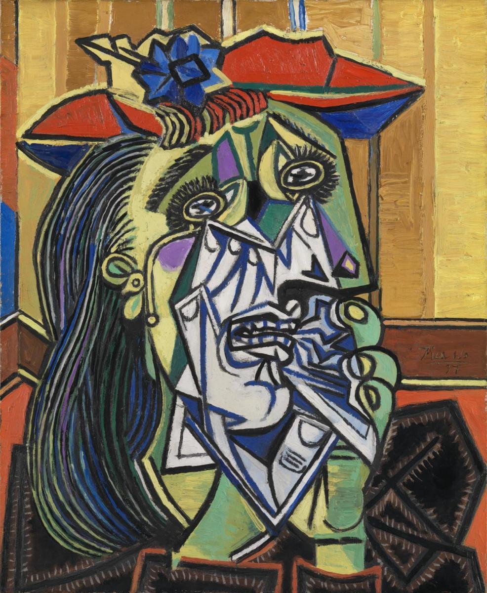 weeping woman Cubism through my eyes