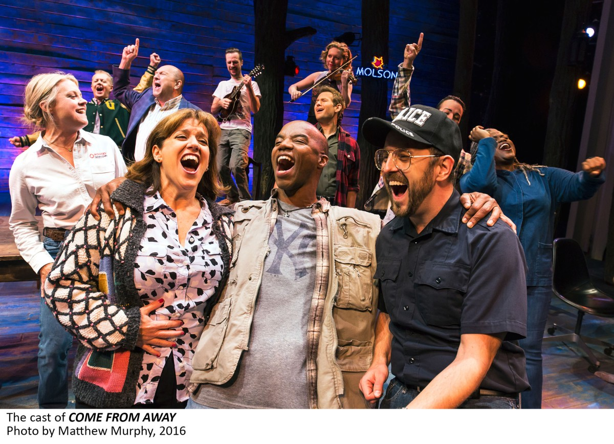 2 the cast of come from away photo by matthew murphy 2016 You are here: An interview with Broadway star Sharon Wheatley in Come From Away