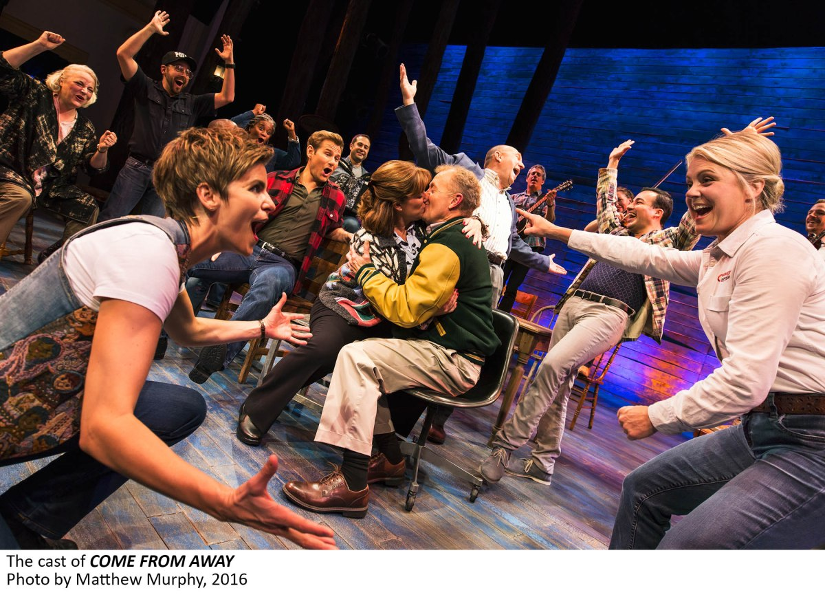 3 the cast of come from away photo by matthew murphy 2016 You are here: An interview with Broadway star Sharon Wheatley in Come From Away