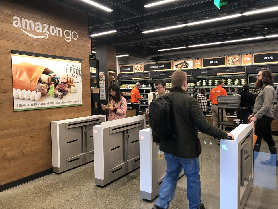 amazon go badge Opinion: Are brick and mortar retailers dying?