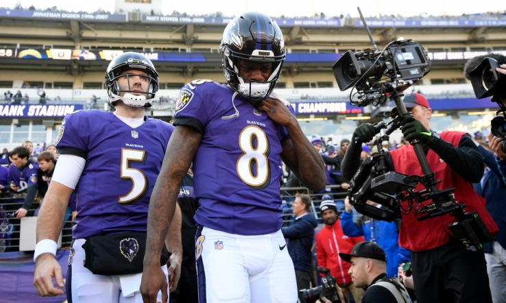 ap chargers ravens football 1 Joe Flacco or Lamar Jackson: The Ravens pressing decision