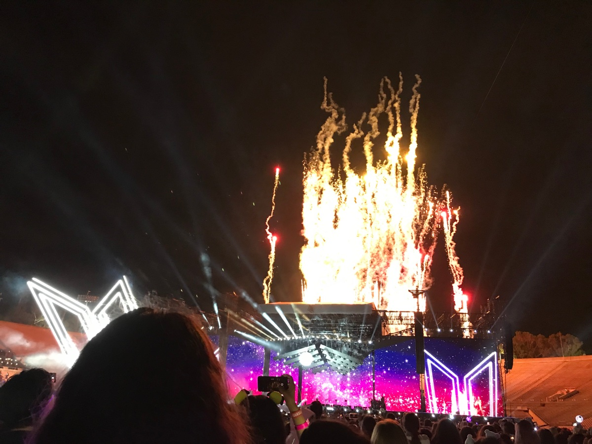 fireworks Concert review: BTS opens international stadium tour at the Rose Bowl