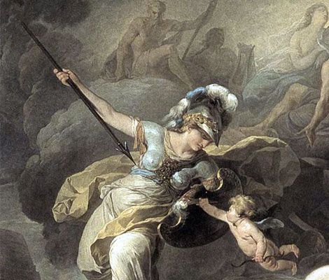 The Olympian Athena, goddess of war and wisdom.