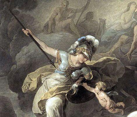 The Olympian Athena, goddess of war and wisdom.