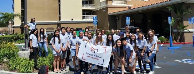 Linens N Love at the 2019 Summer Kickoff Delivery. Imaged provided by Vivian Wang.